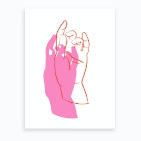 Delicate Hands Art Print