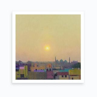 Sunset over Jama Masjid Art Print