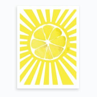 Citrus Sun Art Print