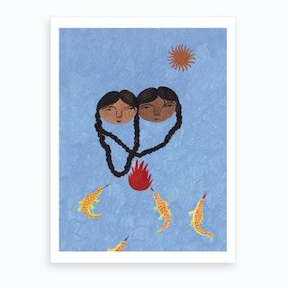 Fire And Sun Art Print