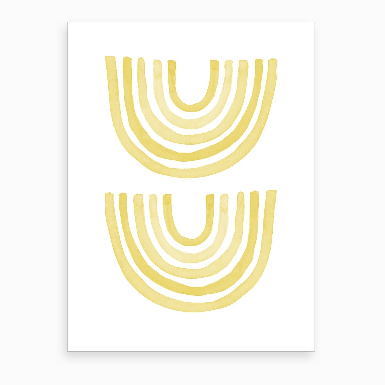 Yellow Rainbow Art Print