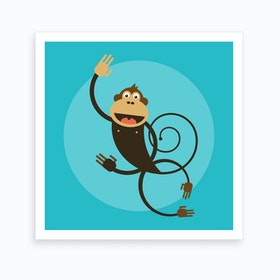 Kids Room Monkey Art Print