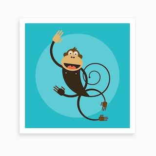 Kids Room Monkey Art Print