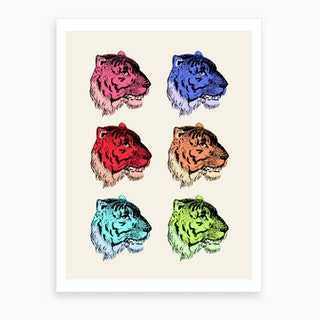 Color Tiger Art Print