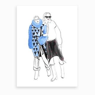 Fashion Week Friends Art Print