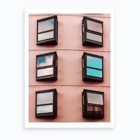 Symmetrical Windows Art Print