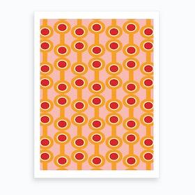 Dumbbells Yellow Art Print