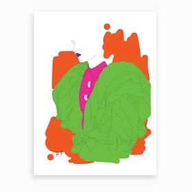 Lady In Fluro Art Print