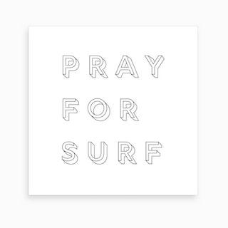 Pray For Surf Art Print