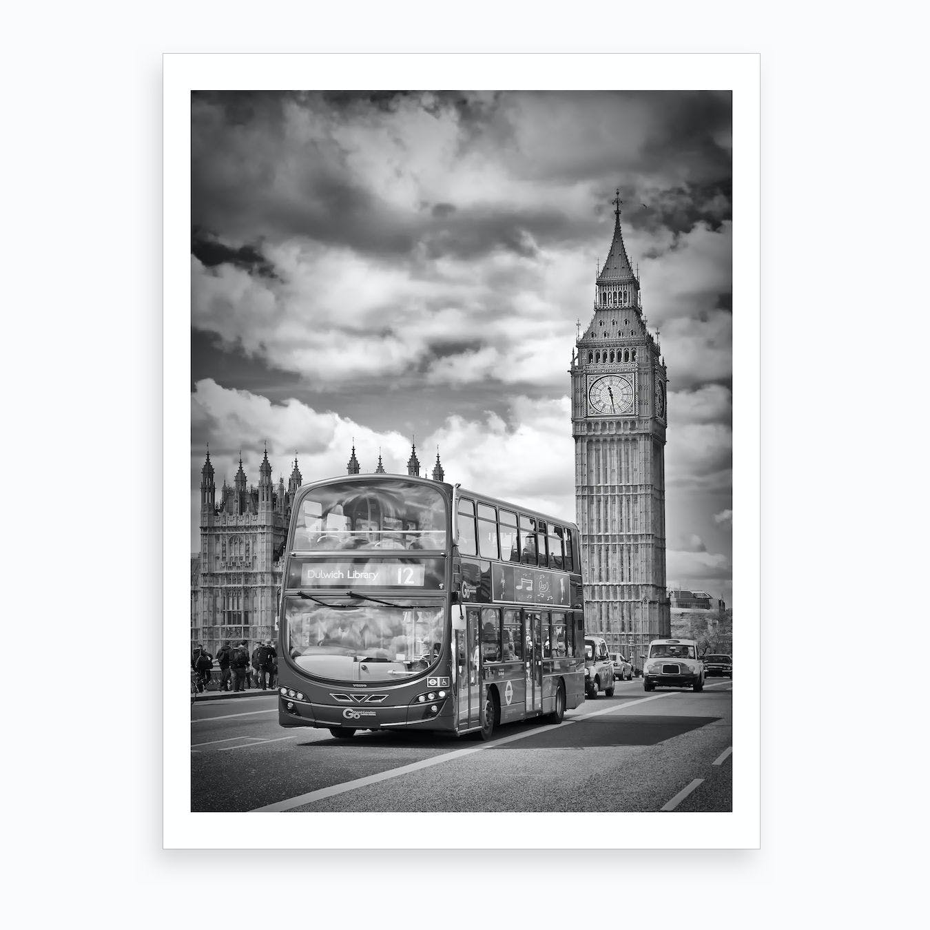 London, Westminster Traffic Art Print