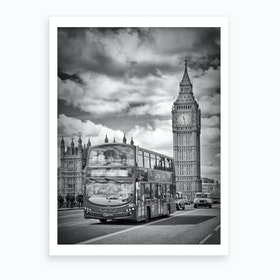 London, Westminster Traffic Art Print