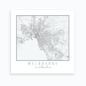 Melbourne Australia Street Map Art Print