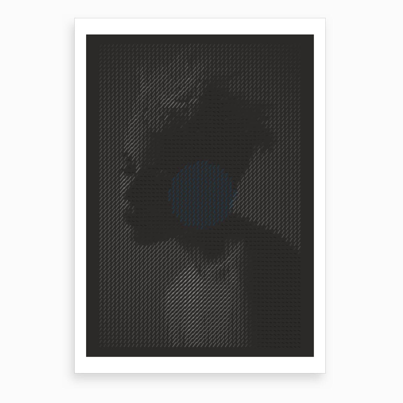 Blue Spot Art Print