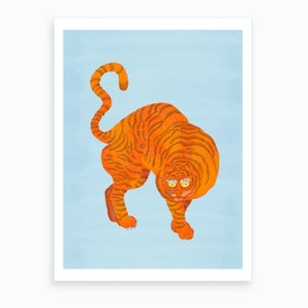 Tiger Blue Art Print