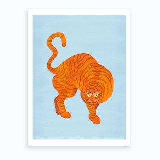 Tiger Blue Art Print