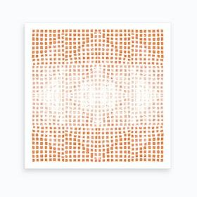 Gods Eye Block Print In Orange Art Print