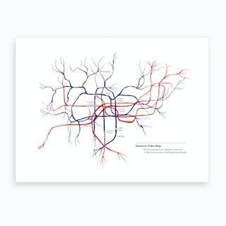 Exercise Tube Map Art Print