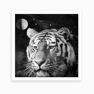 Tiger From The Univers Art Print