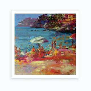 Monaco Coast Art Print