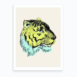Green Tiger Art Print