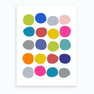 Colorful Pebbles Art Print