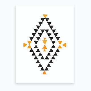 Patterns Aztec Diamond Art Print