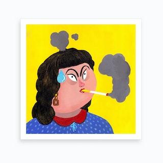 Smoking Art Print