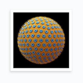Spicky Virus Particle Type 9 Art Print