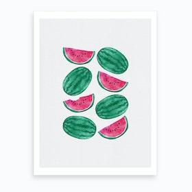Watermelon Crowd Art Print