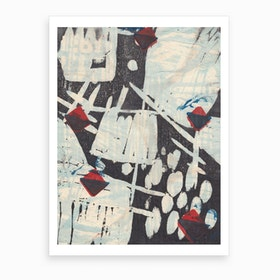 Japanese Abstract Print 2 Art Print