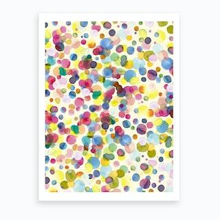 Watercolor Colorful Drops Art Print