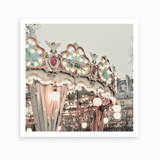 Paris Carousel Art Print