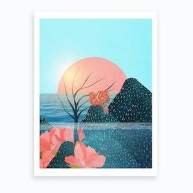 Botanical Under The Sea 1 Art Print