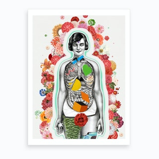 Chakras Flowers Art Print