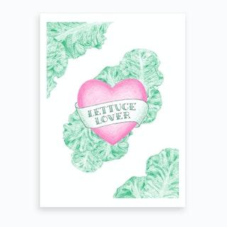 Lettuce Lover Art Print
