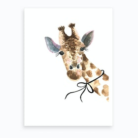 Std Baby Giraffe Art Print