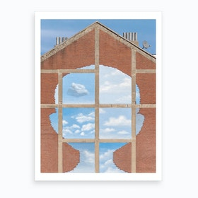 Surreal Blue Sky And Clouds Art Print