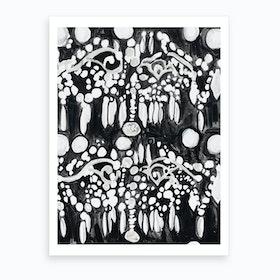 Black And White Chandelier Art Print
