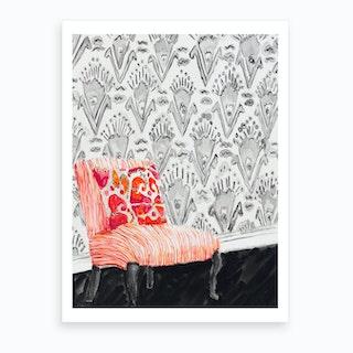 Striped Chair Art Print