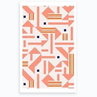 Wrong Random Tiles Art Print