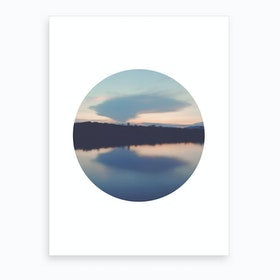 Circular Reflection Art Print