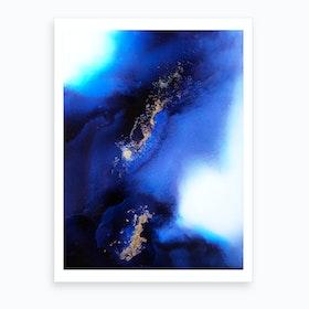 Indigo Expanse Art Print