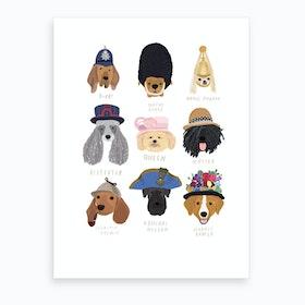 British Dogs Art Print