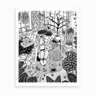 Ostara Witch Art Print