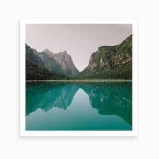 Lago Di Dobbiaco Italy 2 Art Print