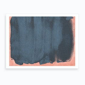 Minimal Abstract Blue Colorfield Painting 5 Art Print