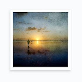 African Sunset Art Print