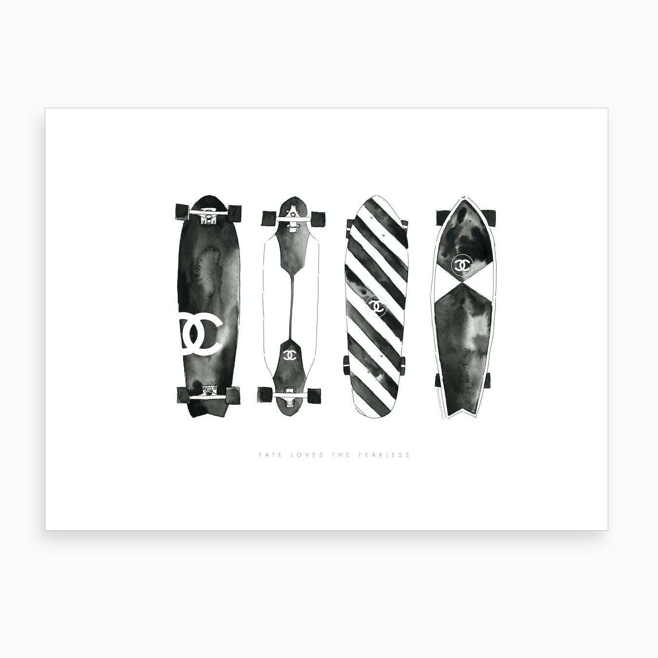 Chanel Skateboards Art Print