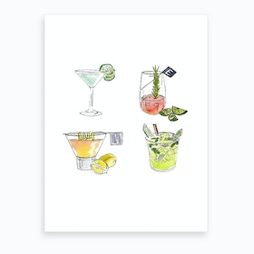 Drinks Art Print