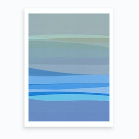 Blue Abstract I Art Print